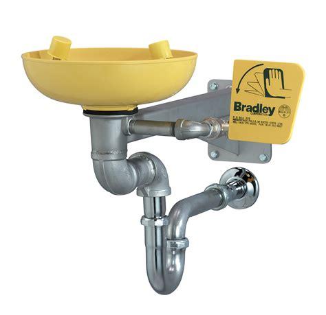 Faucet Mounted Eyewash Station Barrier Free Wall Mount Eyewash Plastic Bowl Bradley
