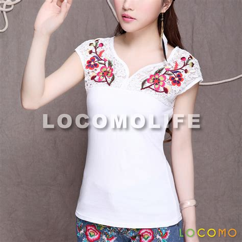 02394 White Embroderie Outer Blouse embroidery flower lace sleeve white l size ffk032l us 26 99 locomolife