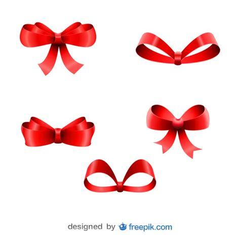 Felice Ribbon Top 5弓セットクリスマス赤リボン ベクター画像 無料ダウンロード
