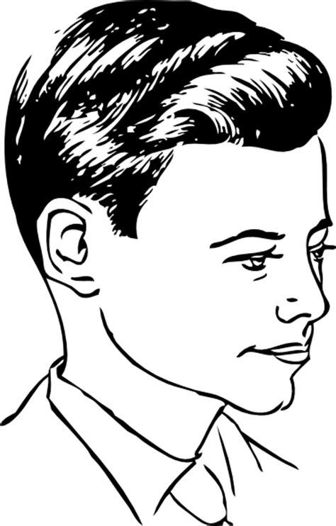 medium haircut  side part clip art  clkercom
