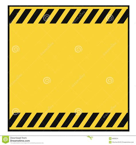 blank warning template stock vector image of barrier