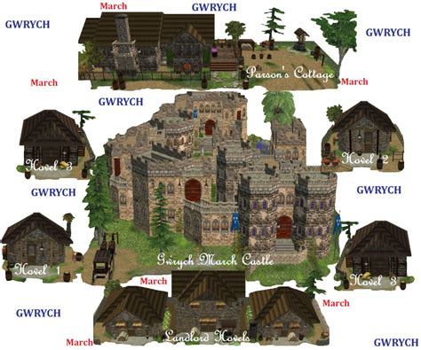Mod The Sims Gwrych Medieval Mod The Sims Gwrych March Set One 6 Residential Lots