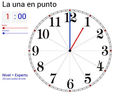 veinticuatro horas en la 1482665972 aprende a leer la hora en un reloj de agujas geogebra
