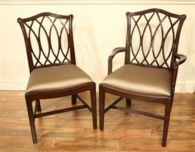 Traditional Dining Room Chairs Mahogany Chippendale Chairs For Formal Dining Rooms