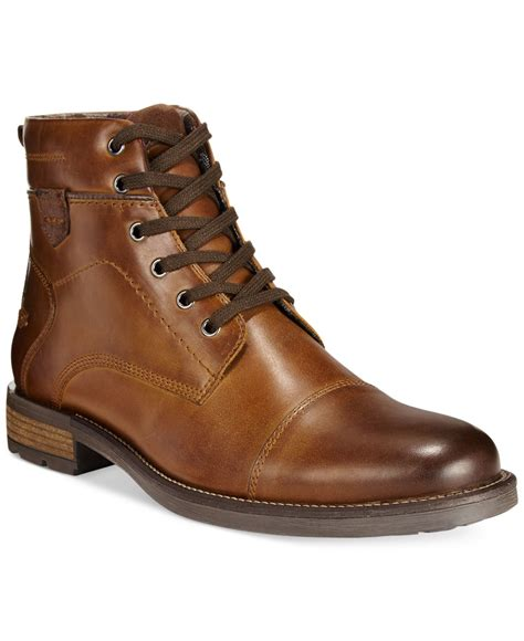 macys boots alfani cap toe boots only at macy s in brown for