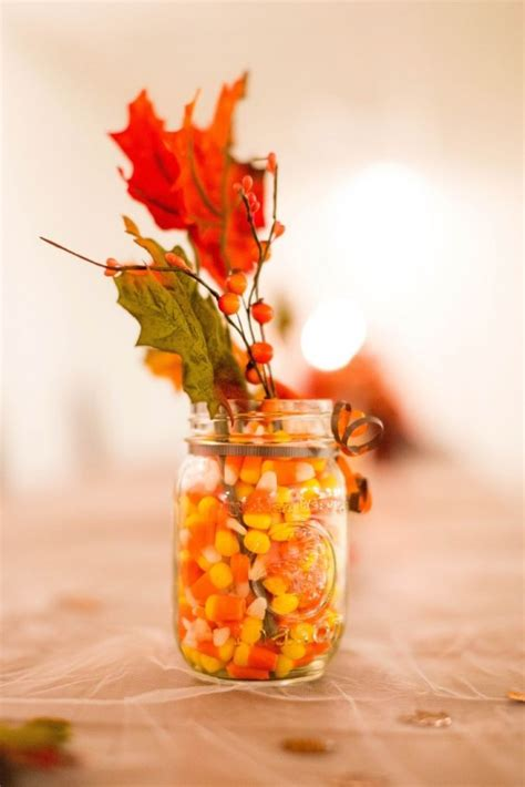 leaf centerpieces  fall  thanksgiving decor