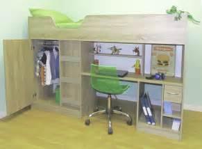 lifestyle sonoma oak high sleeper cabin bed