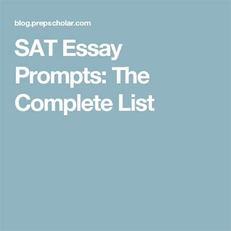 Sat Essay Themes by 25 Best Ideas About Essay Prompts On Journal