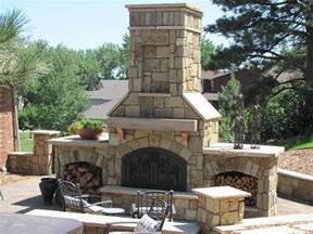 Build A Brick Oven Backyard Outdoor Stone Fireplace Landscaping Network
