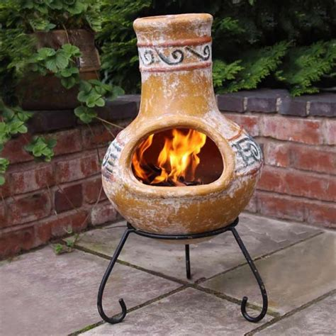 Mexican Chiminea Outdoor Fireplace Owning A Clay Chiminea