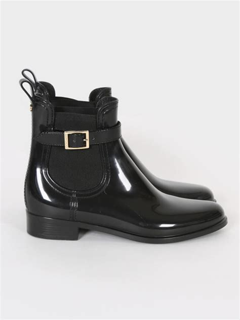 Jimmy Choo Belted Bag by Jimmy Choo Jai Patent Belted Detail Boots Black 37