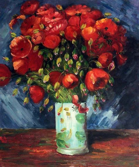 vase with poppies 1886 vincent gogh