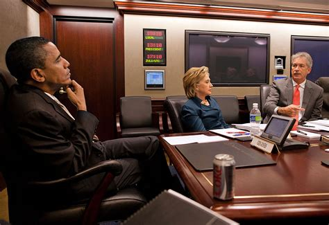 The Situation Room by File Barack Obama Clinton And Bill Burns In The
