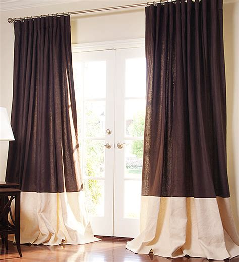 Custom Drapes Patterned Linen Drapes Drapestyle