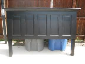 How To Make Headboards From Doors by 5 Panel Door Headboard Painted Satin Onyx Black By Vin