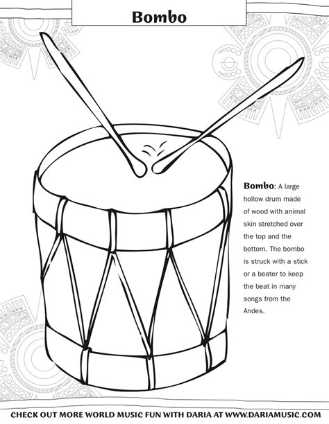 african music coloring pages charango tiny tapping toes