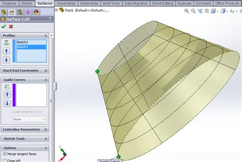 tutorial solidworks loft lofted surface tutorial in solidworks solidworks tutorials
