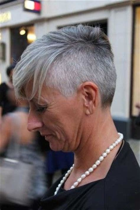 undercut hairstyles for older women grey undercut that will be me always keep my shaved style