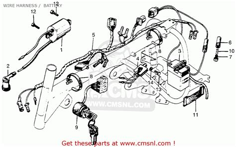 honda z50a mini trail k2 1970 1971 usa wire harness