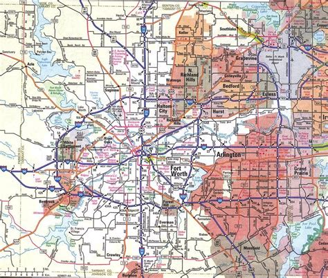 texas fort worth map map of fort worth texas