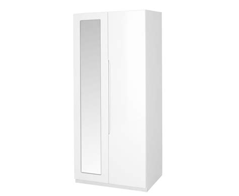 White High Gloss Wardrobes by Trend 2 Door White High Gloss Wardrobe