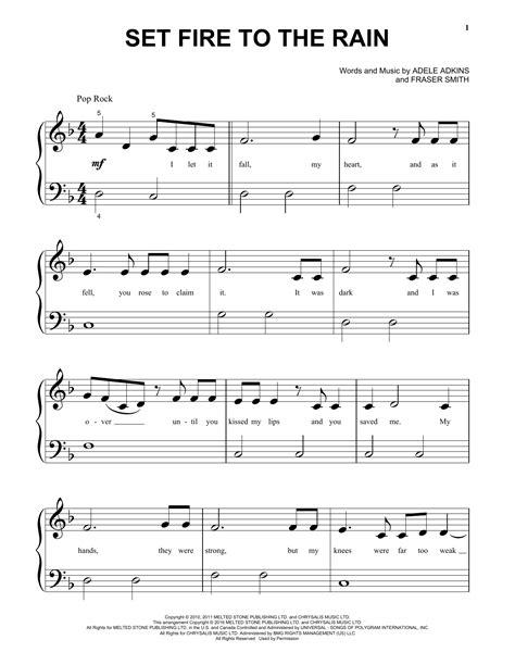 tutorial piano adele set fire to the rain set fire to the rain sheet music by adele piano big