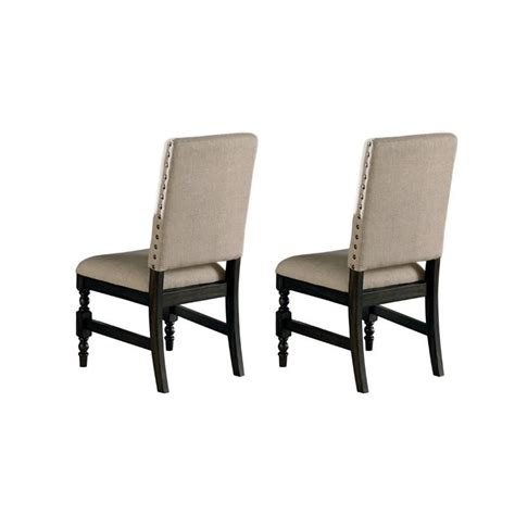 Silver Dining Chair Steve Silver Company Leona Dining Chair In Rubbed Ly500s