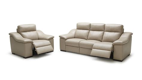 saffron modern beige leather sofa set