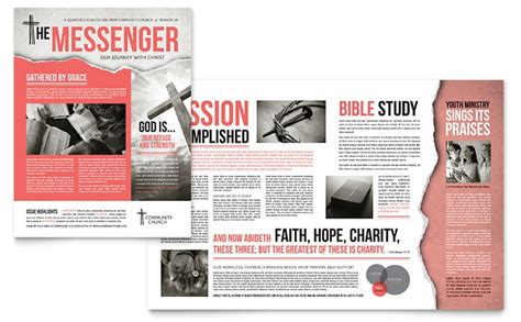 church magazine template creative church bulletins christian newsletters