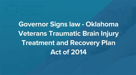 veterans therapy act governor signs oklahoma veterans traumatic brain injury treatment and recovery