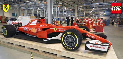 first ferrari race car it took 350 000 bricks to make this f1 ferrari race car