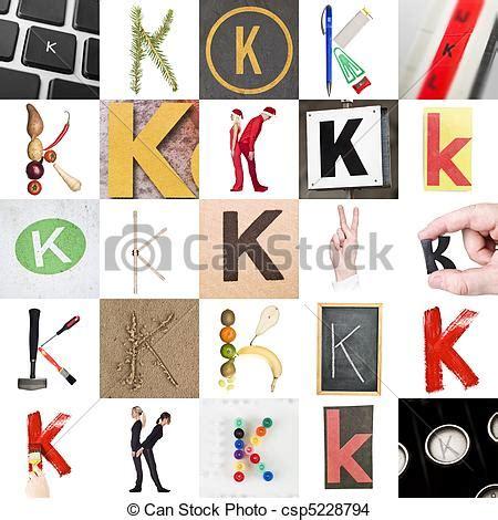 K Collagen by Stock Foto Collage K Brief Collage Beelden