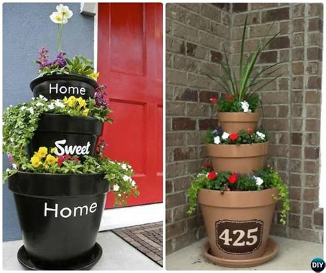front porch flower tower planter 20 diy porch decorating ideas projects home decor designs