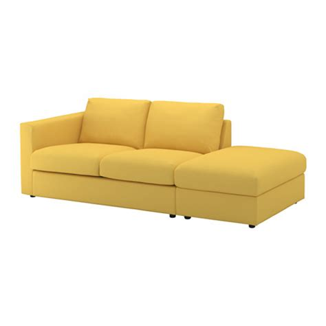 How To Open Ikea Sofa Bed Vimle Sofa With Open End Orrsta Golden Yellow Ikea