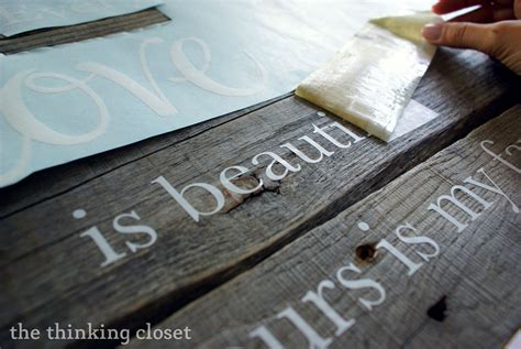 tutorial for vinyl lettering wood pallet sign tutorial the thinking closet