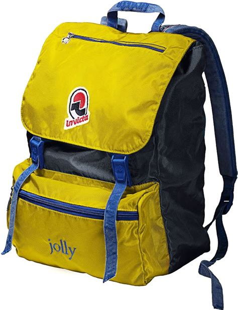 Vintage Retro Backpack Blue invicta jolly vintage backpack yellow blue