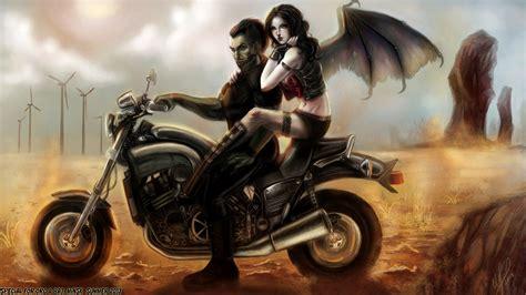 Fantasy Motorrad Bilder hintergrundbilder vir mann fl 252 gel fantasy motorrad m 228 dchens