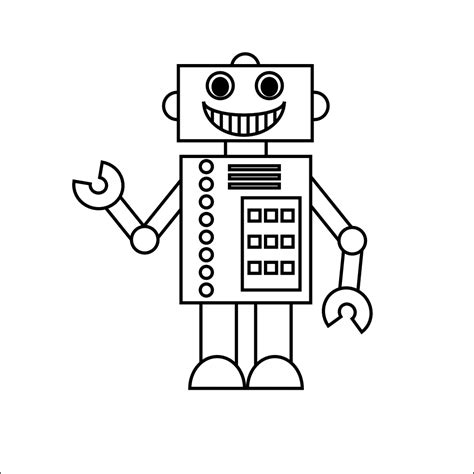 robot template smarty printables august 2011