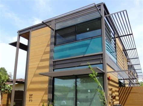 logical homes modern prefab prefab multifamily urban livinghomes completes 3 unit ray kappe designed multi