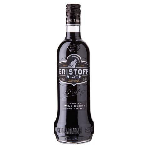 black vodka eristoff black 70cl drinksupermarket