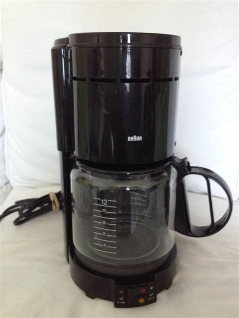 Braun Aromaster Coffee Maker Made in Germany Black Type 4077 12 Cup Coffee Maker