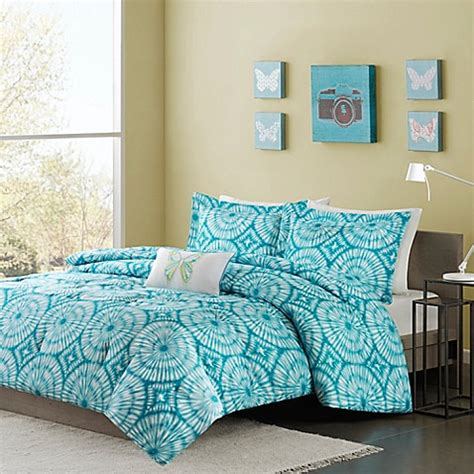 teal bedding twin buy mizone nia twin twin xl comforter set in teal from bed