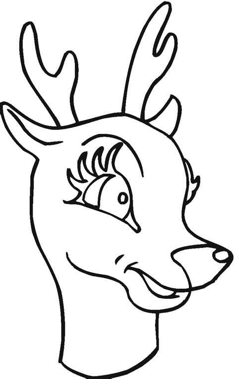 coloring page of deer head white tailed deer coloring pages womanmate com