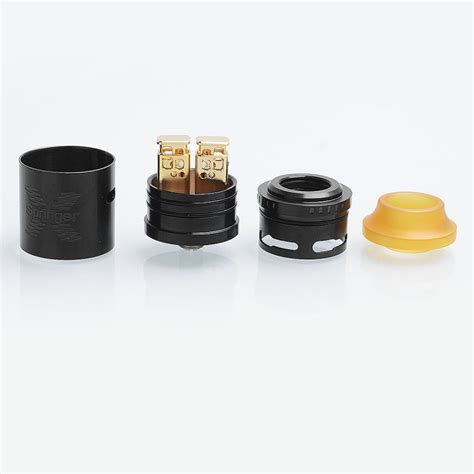 authentic tigertek springer x rda black ss 24mm atomizer