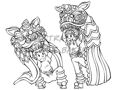 chinese new year lion dance coloring page lion dance coloring page by arleea on deviantart