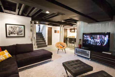 Semi finished basement advice please. Exposed insulation