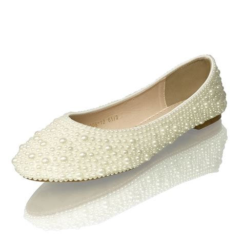 Bridal Flats Ivory by Bridal Open Toe Ivory Pearls Luxury Flats