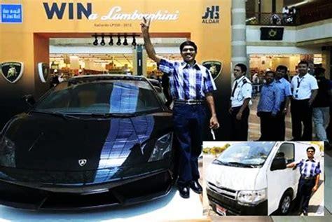 Who Owns Lamborghini In India Indian Taxi Driver Wins Lamborghini Gallardo Lp550 2 In Uae