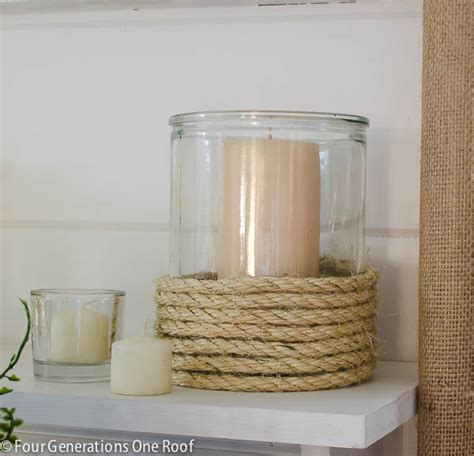 rope candle holders for summer summer home decorating ideas the budget decorator