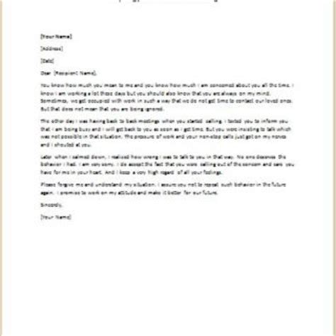 Apology Letter To Your For Hurting Formal Official And Professional Letter Templates Part 5